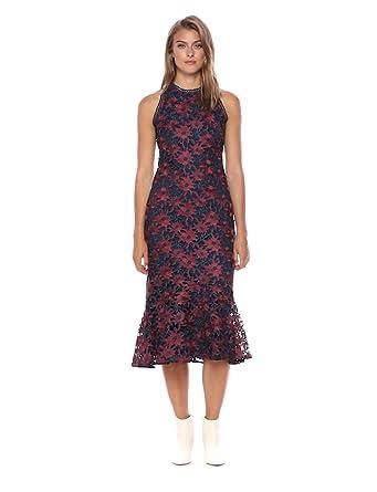 1a223fc6c21 Amazon.com  Shoshanna Women s Tupper Sheath Lace Midi Dress  Clothing