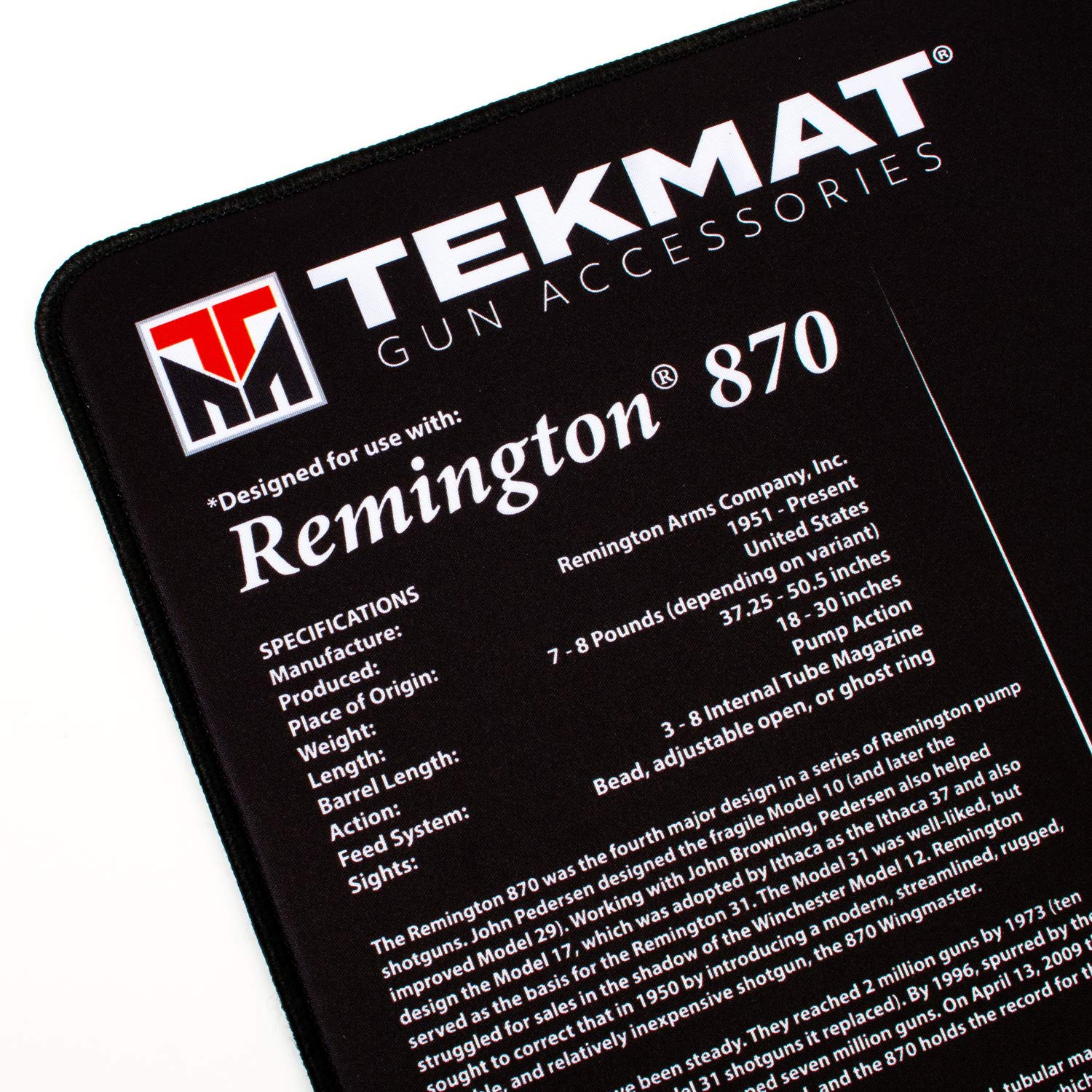 Tekmat Remington 870 Ultra Premium Gun Cleaning Mat Info Shotguns Remingtonshotguns Remington870 Remington870diagram 15 X 44 25 Thick Durable Water And Oil Resistant Rifle Bench