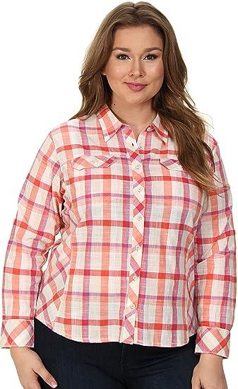 269402662c684 Columbia Women s Size Camp Henry Long Sleeve Shirt Plus at Amazon ...