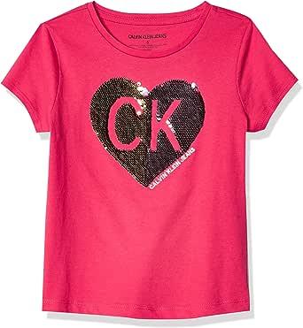 Calvin Klein Girls' Flippable Tee Shirt