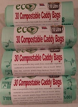 10L abrazaderascompostables para bolsas de basura. EN13462 ...