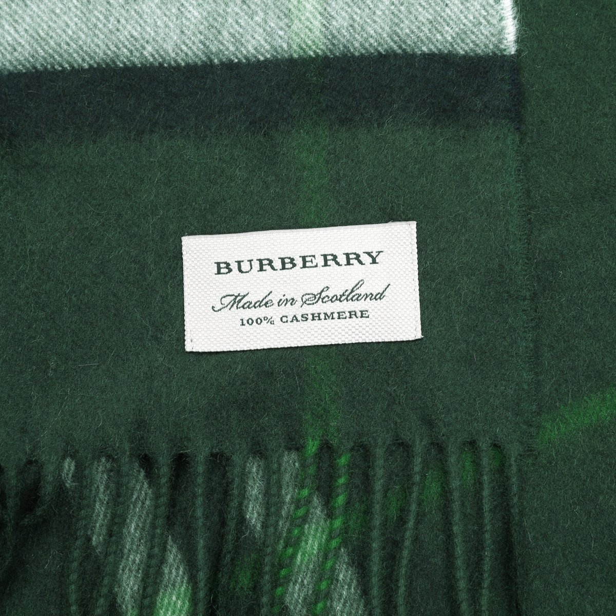 Burberry Women's Classic Check Cashmere Scarf (One Size, Dark Forest Green) by BURBERRY (Image #2)