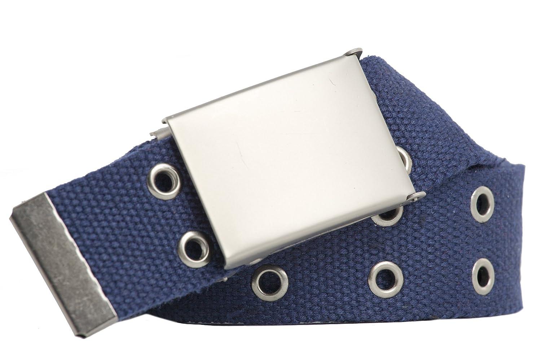 shenky - Cintura in tessuto borchiata - 4 cm - fibbia grossa - misura unica 2168