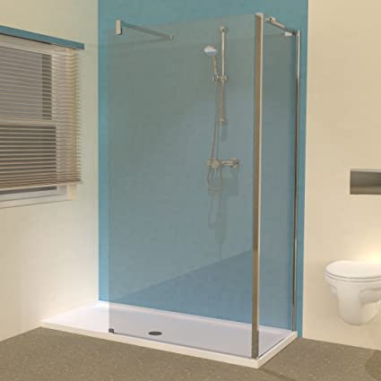 Line 1600 X 700 Shower Tray With L Shaped Walk In Shower Screens