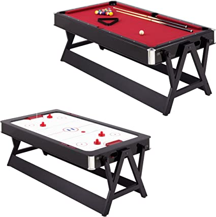 Amazon Com Harvard 7 Foot Flip Table Hockey And Pool Combination Game Tables Sports Outdoors