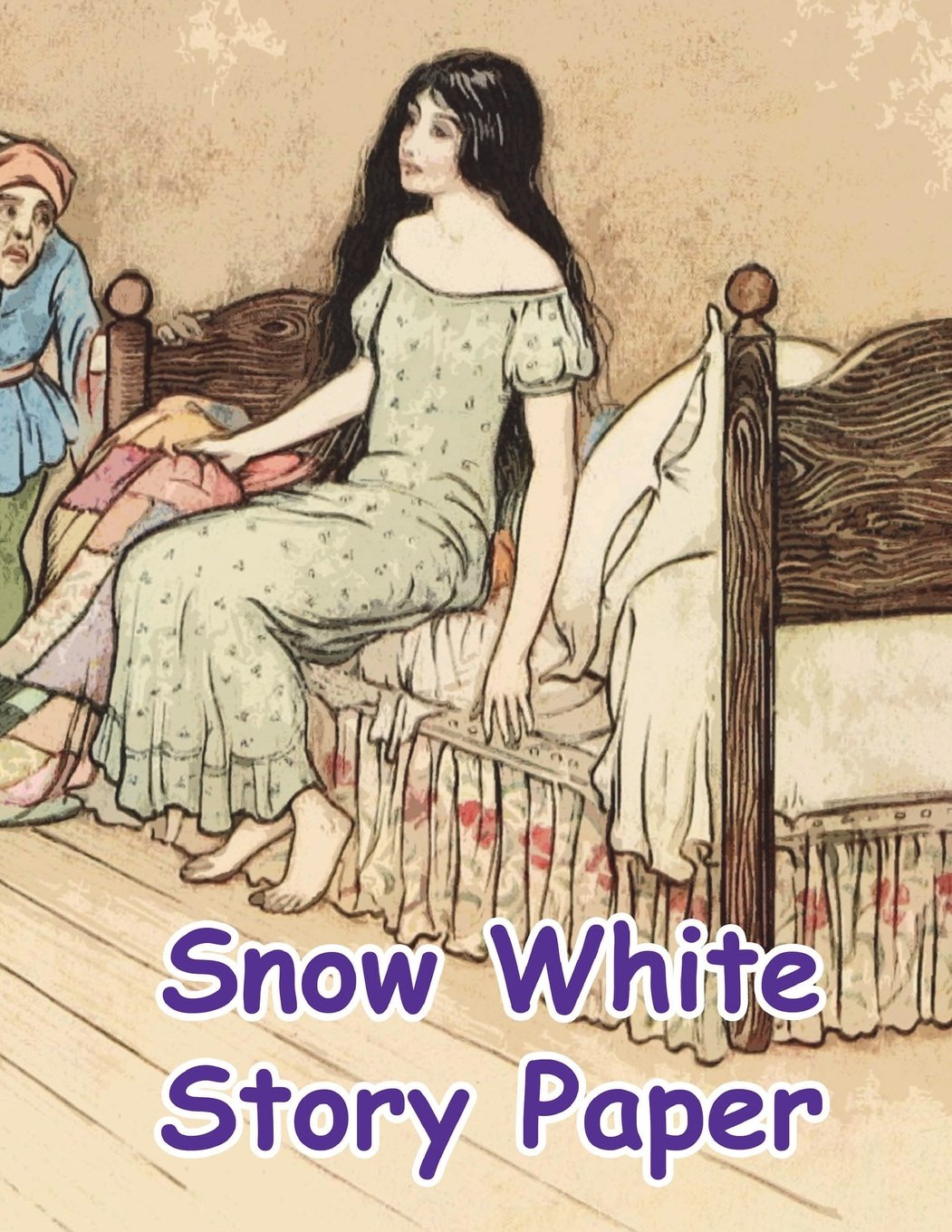 """Read Online Snow White Story Paper: Snow White and the Seven Dwarfs 100 Pages (50 sheets) 8.5"""" x 11"""" (21.59 x 27.94 cm) K3 Grade Home Schooling Ideal for Creative Children ebook"""