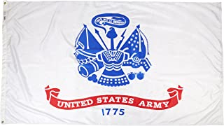 product image for Annin Flagmakers Model 600 U.S. Army Military Flag Nylon SolarGuard NYL-Glo, 5x8 ft, 100% Made in USA to Official Specifications. Officially Licensed