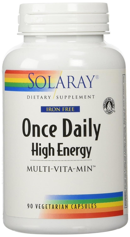 SOLARAY社 ワンス デイリー ハイ エナジー マルチビタミン アイアン フリー 90カプセル B00028PGHM