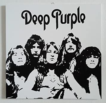 Deep Purple Band Modern Painting Pop Art Style Hand Painted By Fratta Artist Ready To Hang 100 Artwork Hand Made 18 X 18 Inches Amazon Co Uk Kitchen Home
