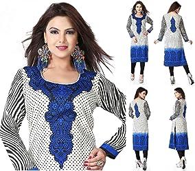 Women Fashion Casual Long Indian Kurti Tunic Kurta Top Shirt Dress 112B