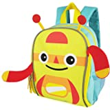 Zebrum Kids & Toddler Backpack, Colorful Spring/Summer Kids Bag with Reflective Stripe and Mesh Side Pockets for Boys and Girls