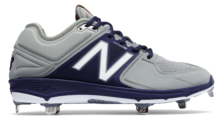 (ニューバランス) New Balance 靴シューズ メンズ野球 Low-Cut 3000v3 Metal Cleat Grey with Navy グレー ネイビー US 12.5 (30.5cm) B01N3U7N5R