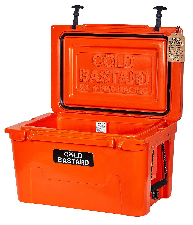Rigid Series 45QT Orange Neon Cold Bastard ICE Chest Cooler Free Accessories Free S&H