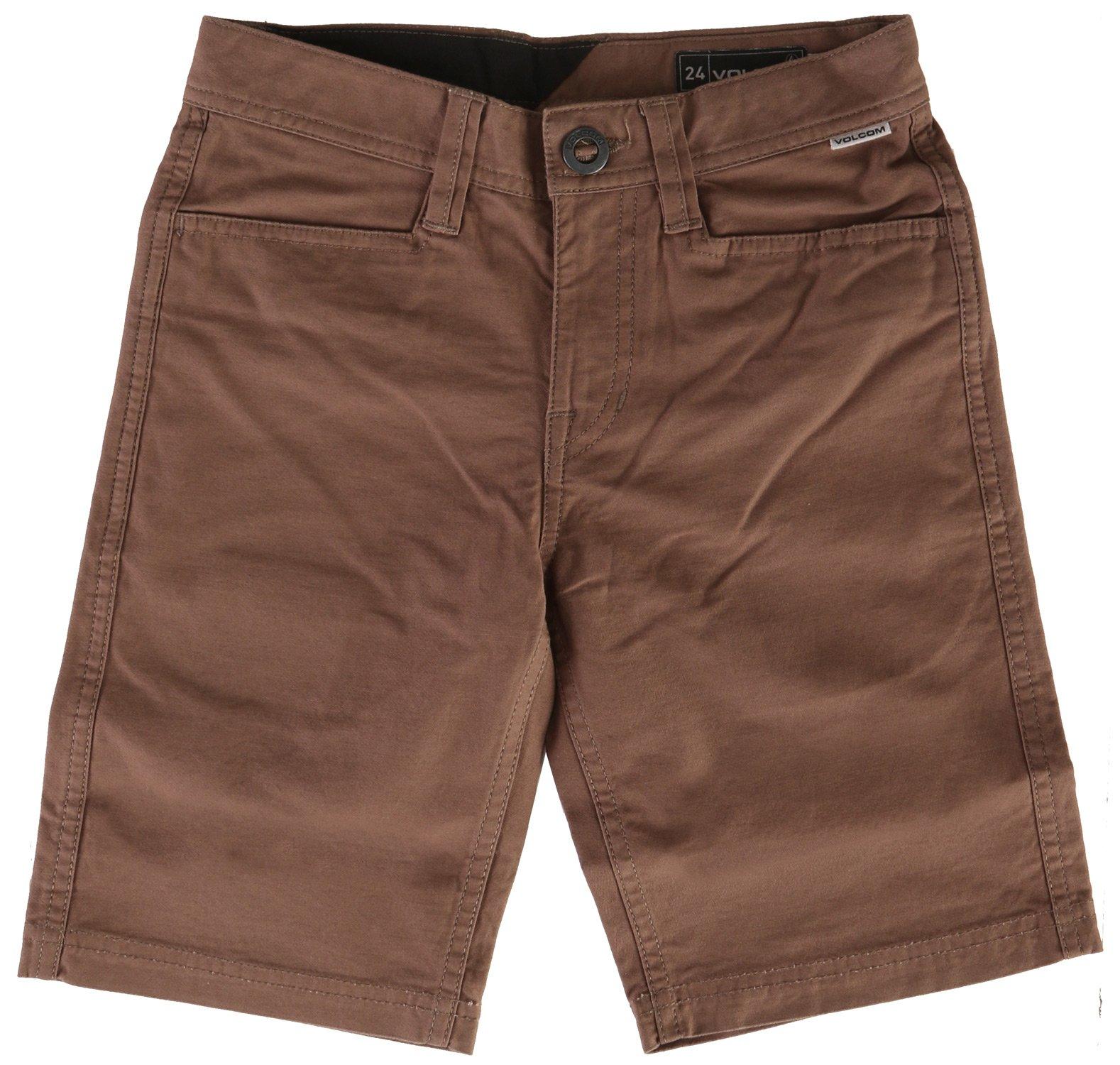 Volcom Kids  Boy's VSM Gritter Shorts (Big Kids) Mushroom Shorts