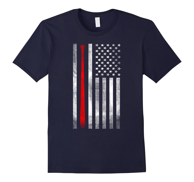 American Flag Vintage Baseball Flag T-Shirt, Dad, Mom, Kid