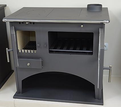 Combustión de madera cocina estufa chimenea de horno cocina de combustible sólido Log quemador 9 kW