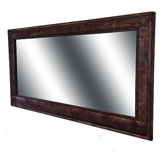 Amazon.com: 60 x 30 Herringbone Double Vanity Mirror Red Mahogany ...
