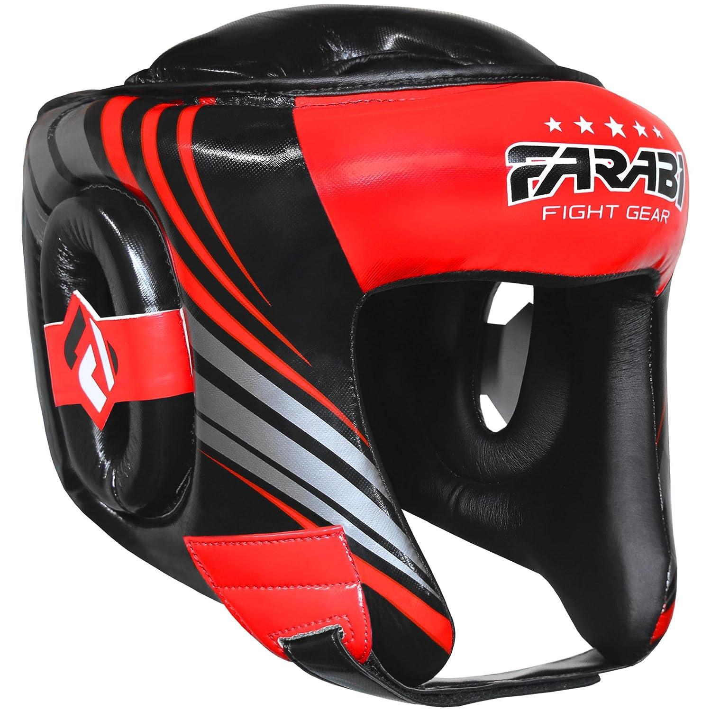 Farabi Head Guard Boxing MMA Muay Thai Workout Practice Full Face Headguard Head Protector Headgear