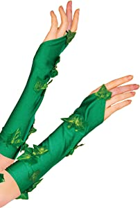 Rubie's 38033 Women's DC Comics Poison Ivy Glovelette Costume, One Size, Green