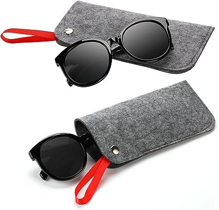 Hifot Estuche de gafas suaves 3 piezas, Estuche Fundas Gafas de viaje portátiles caso Porta gafas