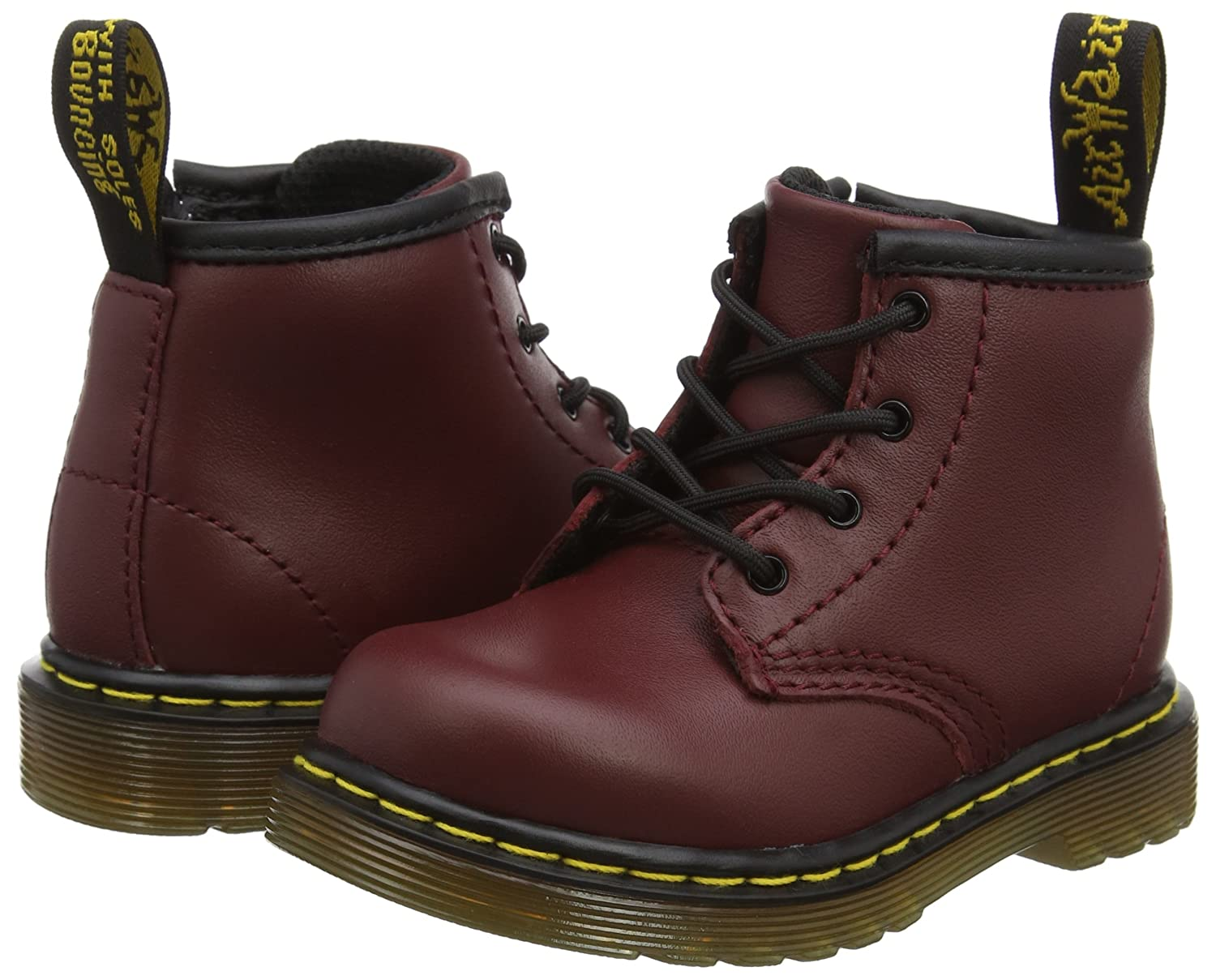 Dr. T Martens Brooklee B Softy T Dr. Cherry Red Unisex-Kinder Bootsschuhe Rot (Black) 8e0bee