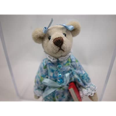 "World of Miniature Bears 3"" Plush Bear Wendy #1188 Collectible Miniature Bear Made by Hand: Toys & Games"