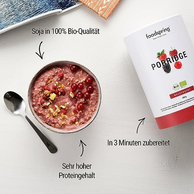 foodspring Porridge proteico, Orgánica Frutas del Bosque, 420g, Desayuno para estar en forma: Amazon.es: Alimentación y bebidas