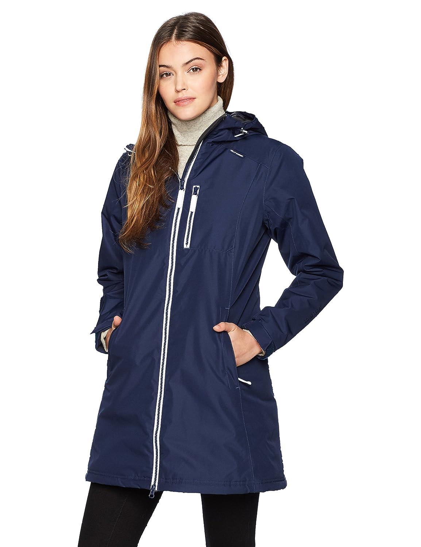 TALLA Small (Tamaño del fabricante:S). Helly Hansen W Long Belfast Winter Chaqueta, Mujer, Azul, Small (Tamaño del Fabricante:S)