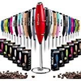 PowerLix Milk Frother Handheld Battery Operated Electric Whisk Foam Maker For Coffee, Latte, Cappuccino, Hot Chocolate, Durab