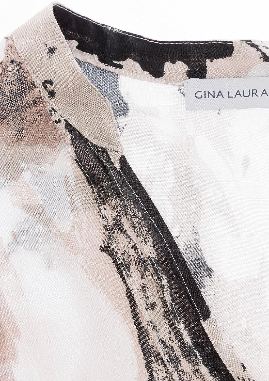 Gina Laura Bluse 3//4 Arm Strukturdruck beige NEU
