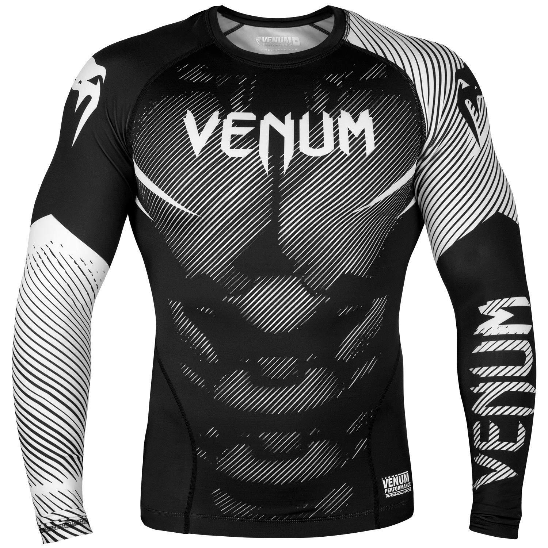 Venum MMA NO GI Long Sleeve Rash Guard - Black/White (Medium) by Venum