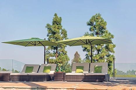 SimplyShade SSAG5A-86SQ00-D3515 Skye Paraguas voladizo con Suelas Abiertas de 8-5/8 Pulgadas de Ancho con rotación Completa de 360 °: Amazon.es: Jardín