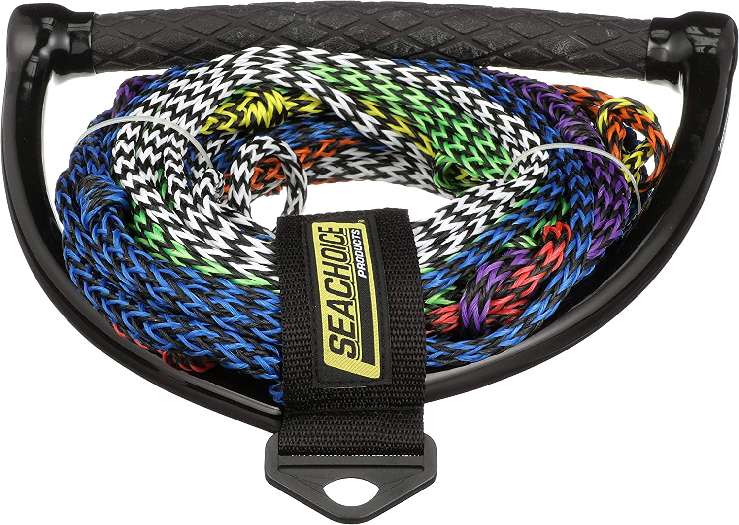 Seachoice Seachoice 86763 8-Section Water Ski or Wakeboard Rope, 75 Feet Long, 13 Inch Handle with Textured Rubber Grip