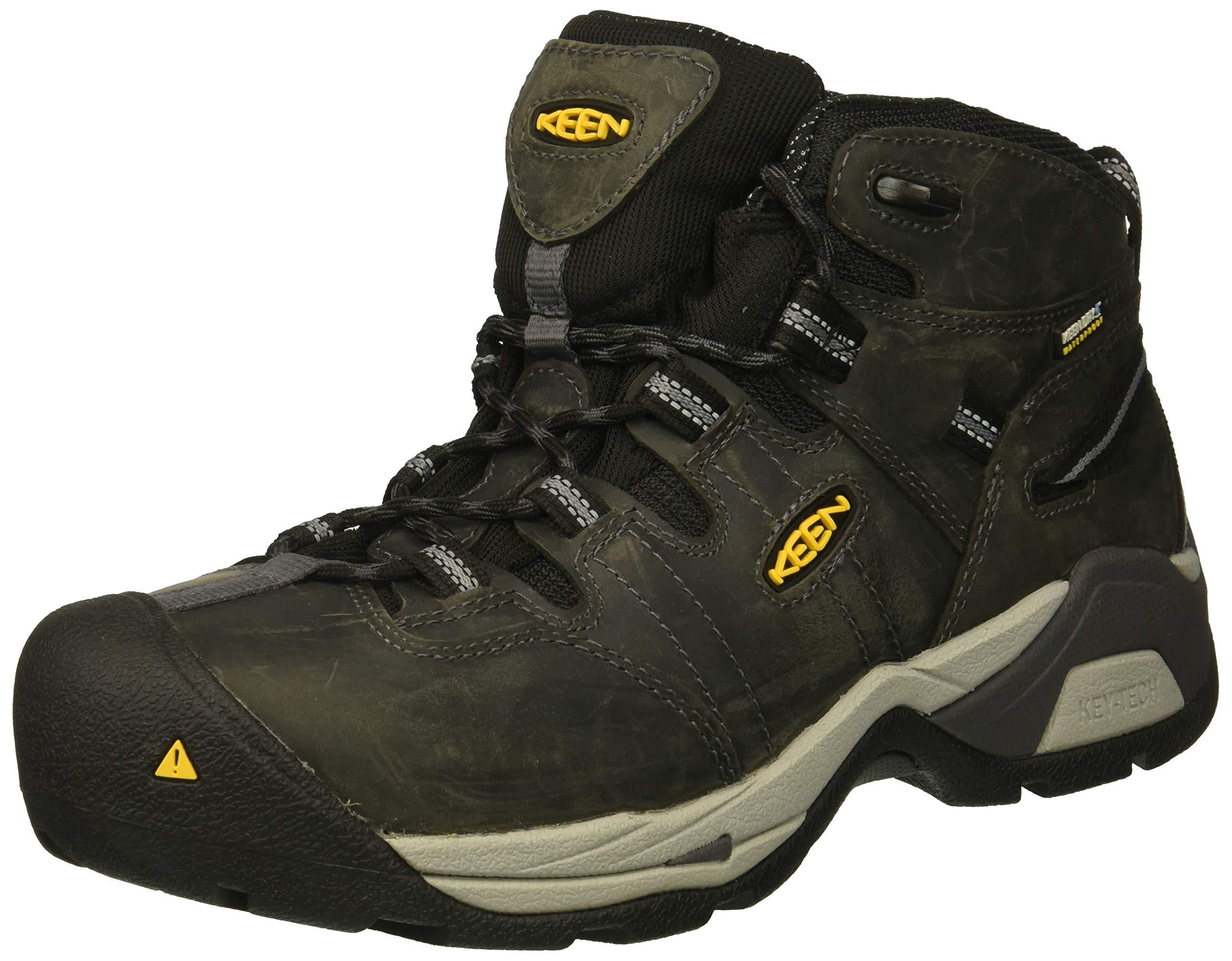 Keen Utility Men's Detroit XT Mid Steel Toe Waterproof Industrial Boot, Magnet/Paloma, 14 2E US