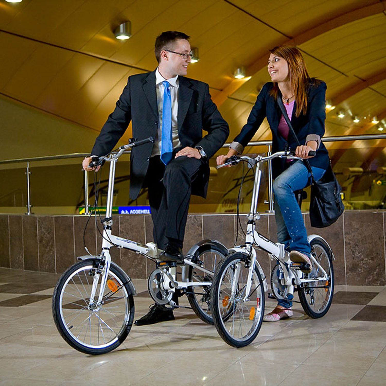 Nero Bikesport FOLDING Bicicleta plegable ruedas de 20 Shimano 6 velocidades