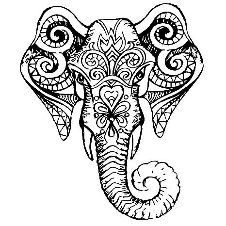 Amazon.com: pared calcomanías indio Elefante Tribal Patrón ...
