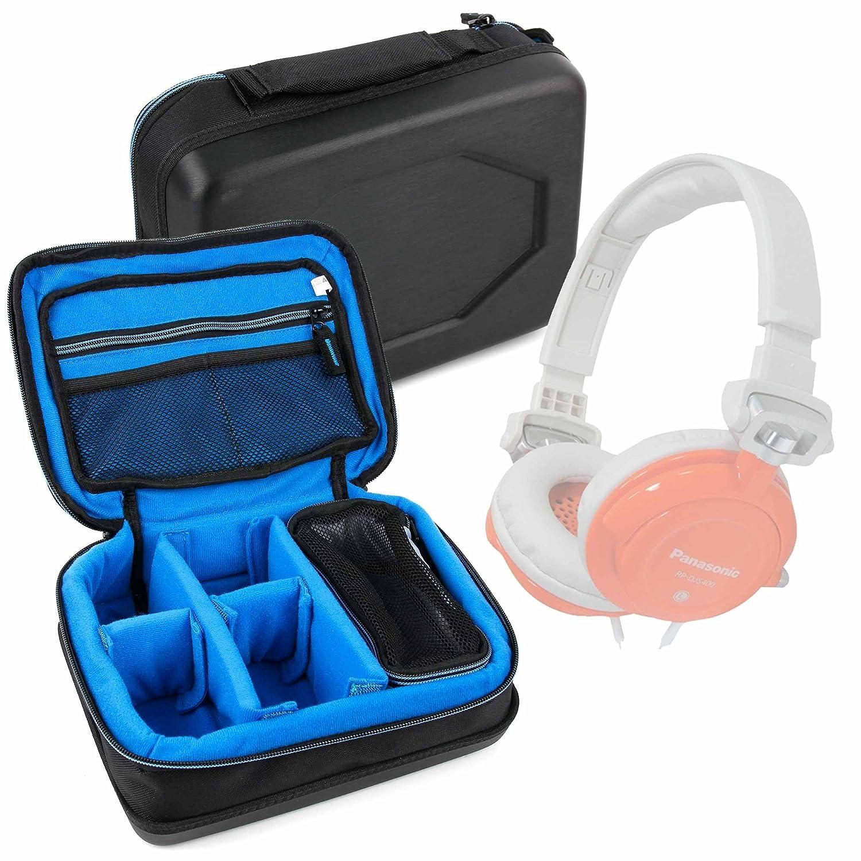 DURAGADGET Bolsa acolchada profesional negra con compartimentos para Auriculares Mpow MPPA071AB/NAVISKAUTO SK-Y0234/Panasonic RP-DJS400AEW, RP-HF500M, ...