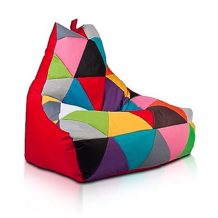 Poltrone Sacco E Pouf.Ecopuf Keiko M Pouf Patchwork Design Poltrona Sacco Seduta In