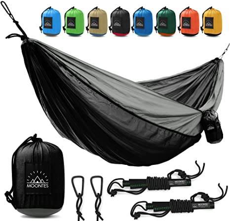 camping hammock   double hammock with hammock straps indoor outdoor best quality hammocks 500 lbs portable amazon    camping hammock   double hammock with hammock straps      rh   amazon