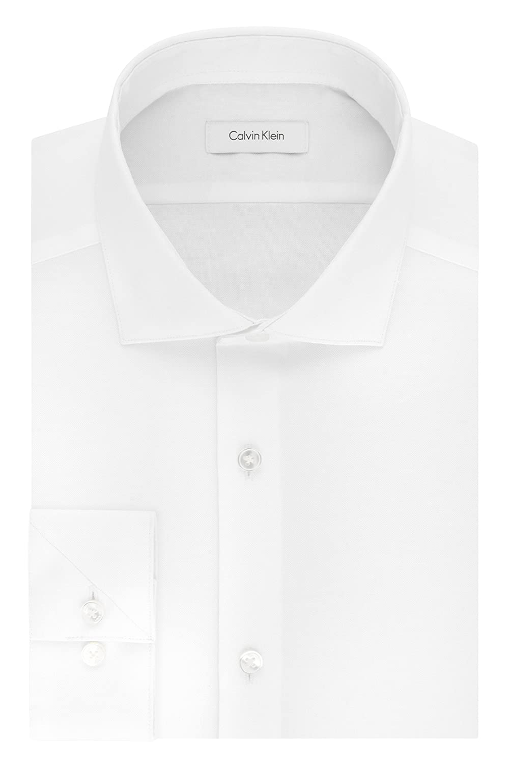Calvin Klein Men's Non Iron Stretch Slim Fit Dress Shirt by Calvin+Klein