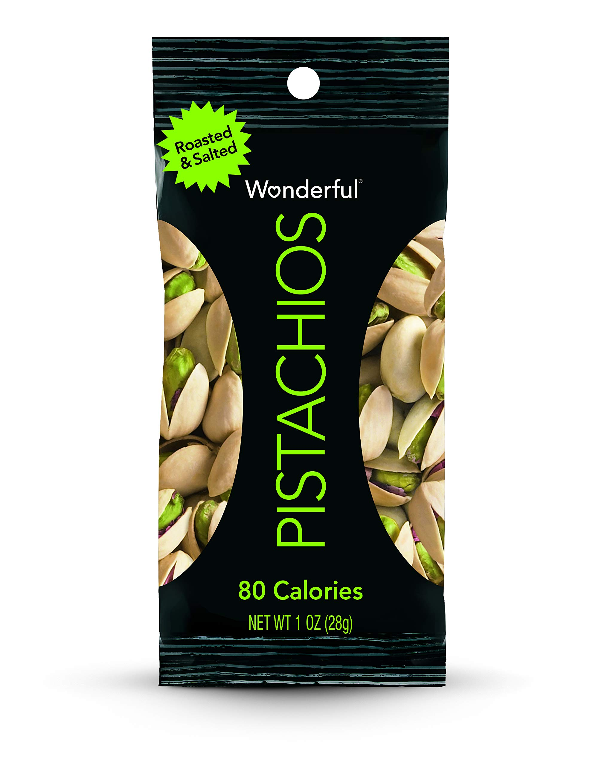 Wonderful Pistachios, Roasted and Salted, 1 Ounce Bags (Pack of 96) by Wonderful Pistachios & Almonds