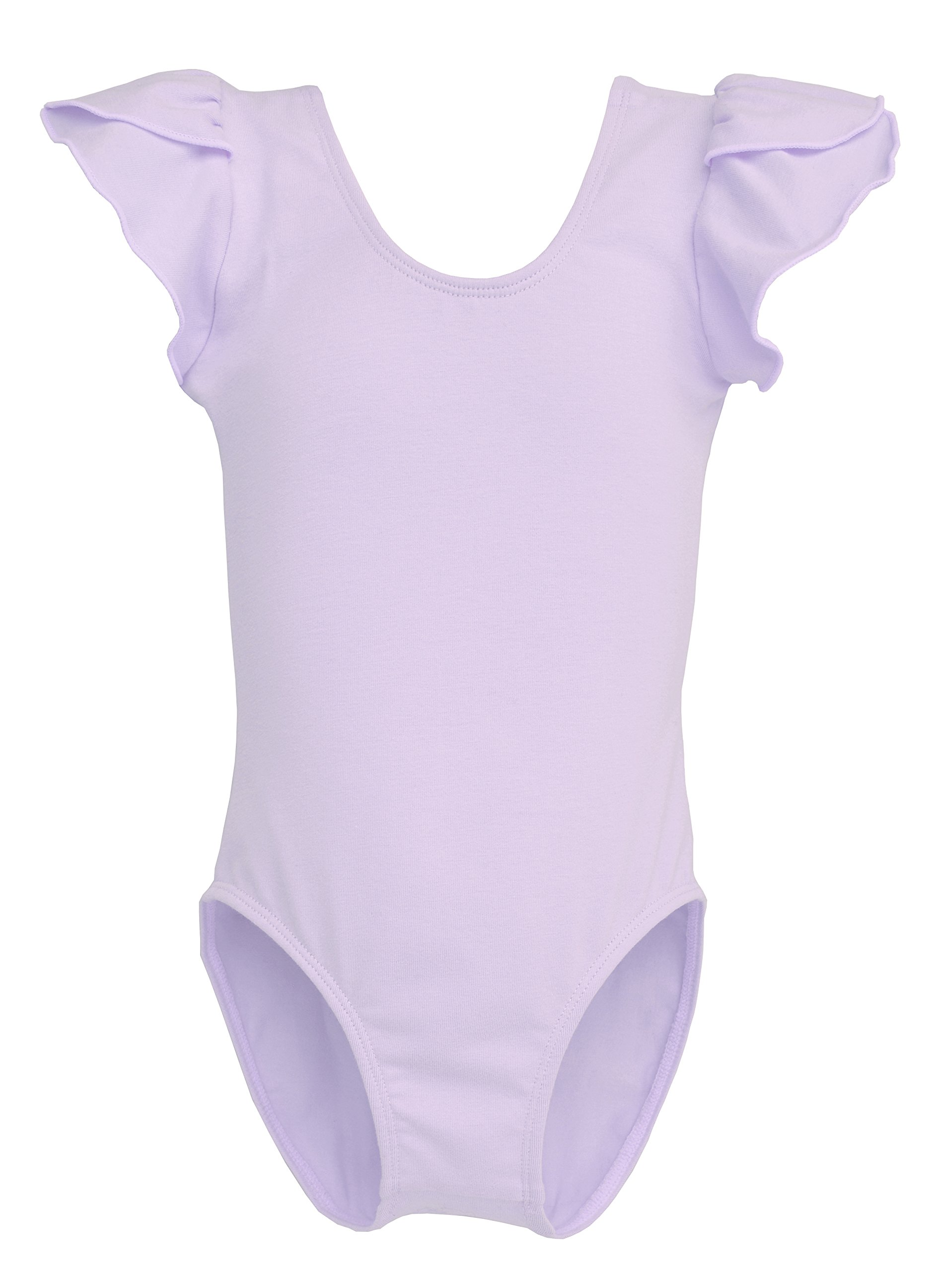 Dancina Leotard Ballet Girls Cap Sleeve Front Lined 2-3T Lavender