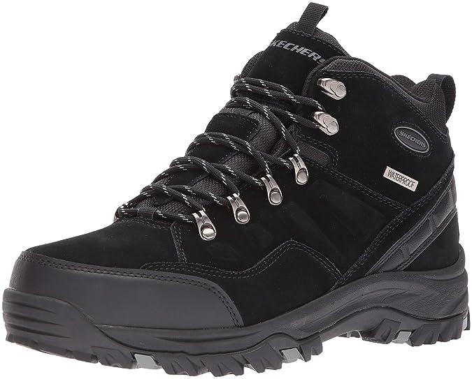 Skechers Men's RELMENT-PELMO Hiking Boot, Black, 8 Medium US