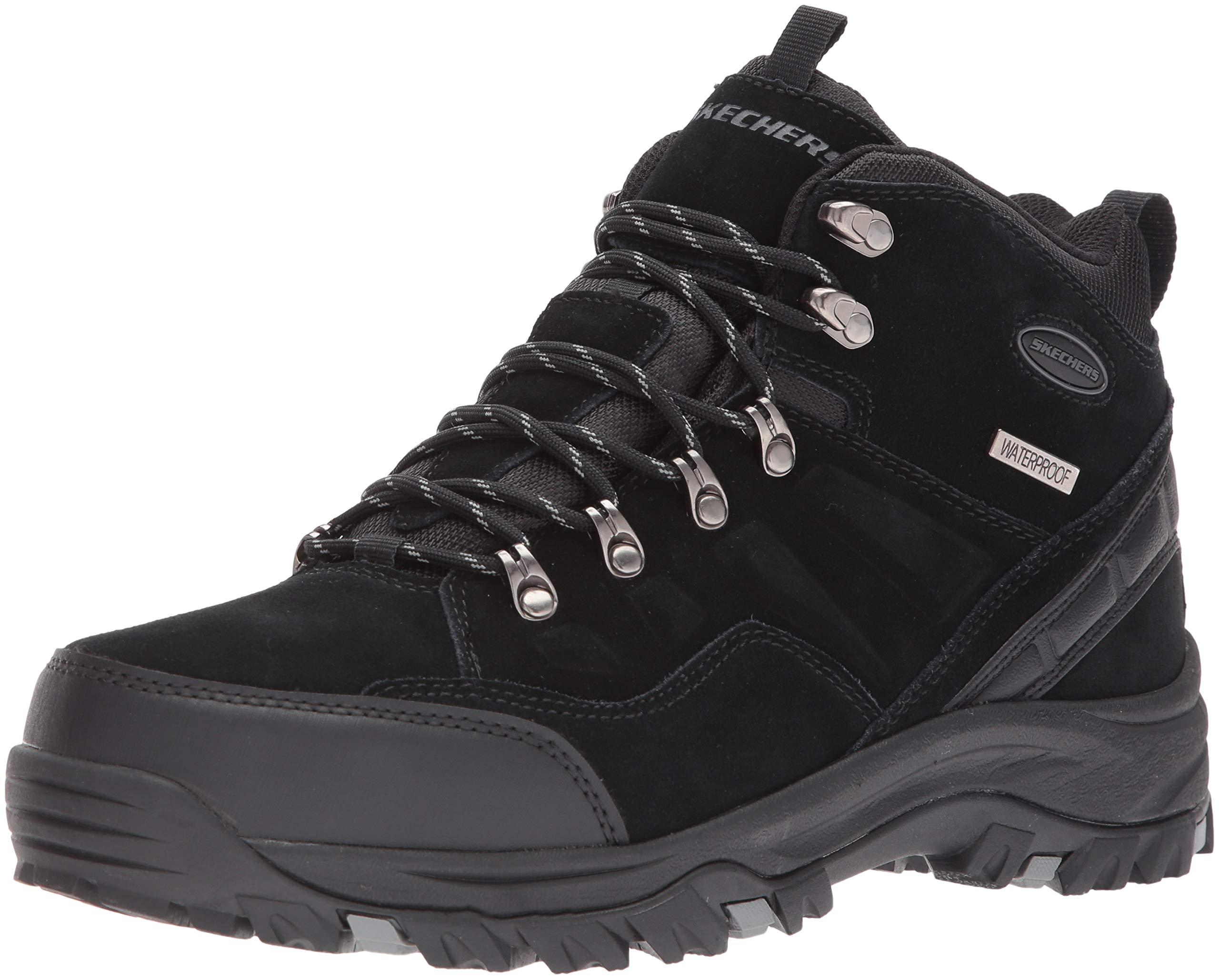 Skechers Men's RELMENT-PELMO Hiking Boot, Black, 12 Medium US