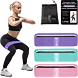 Gymbee 3 Fabric Resistance Bands for Legs and Butt, Loop Exercise Bands, Booty Workout Bands for Women, Glute Bands, Non Slip Squat Bands with 3 Resistant Levels