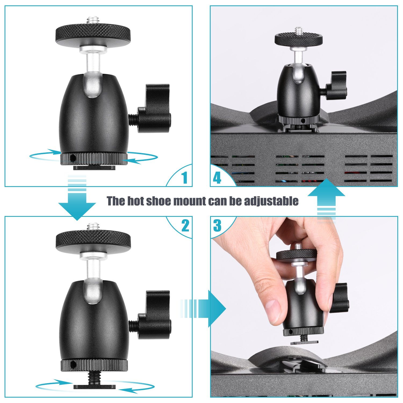 Youtube Neewer 36cm Luce LED Anulare Esterno con Light Stand Ricevitore Bluetooth per Smartphone Auto-riprese Braccetto Flessibile Adattatore Hotshoe 36W 5500K 2 Filtri Colorati