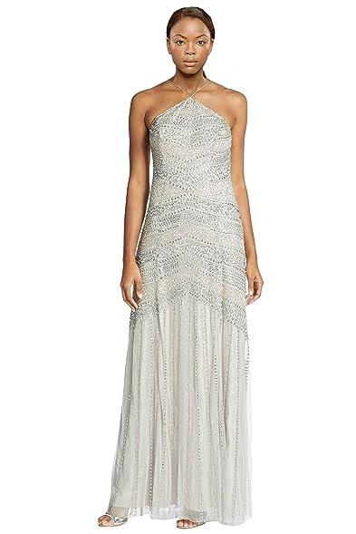 Amazon.com: Aidan Mattox Embellished Racerback Evening Gown Dress ...
