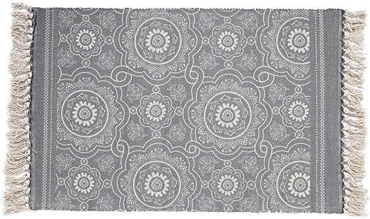SHACOS Alfombra Tejida a Mano con borlas,alfombras de algodón ...