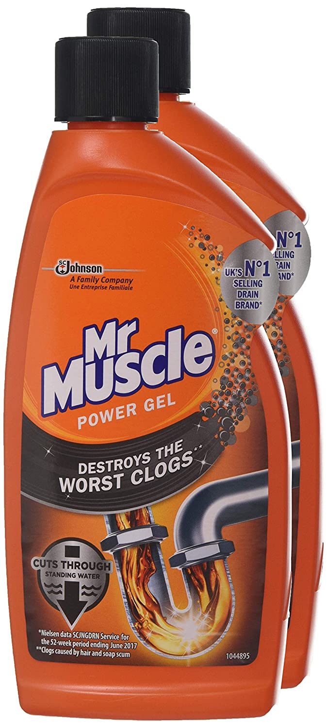 Mr Muscle Max Desatascador Gel, 500 ml, 2 unidades: Amazon.es: Salud y cuidado personal