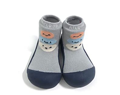 85d93e464a Attipas Baby Shoes Socks Rubber Sole First Walker Soft Cotton Ideal Baby  Registry Gifts (US